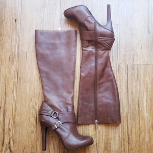Jessica Simpson Bourbon Leather Riding Heel Boots